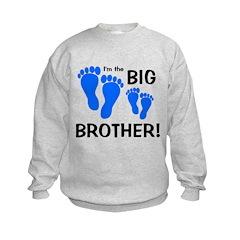 Big Brother Baby Footprints Sweatshirt