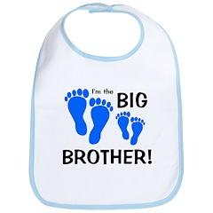 Big Brother Baby Footprints Bib