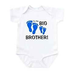 Big Brother Baby Footprints Infant Bodysuit