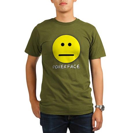 Poker Face Organic Men's T-Shirt (dark)