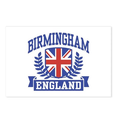 Birmingham England Postcards (Package of 8)