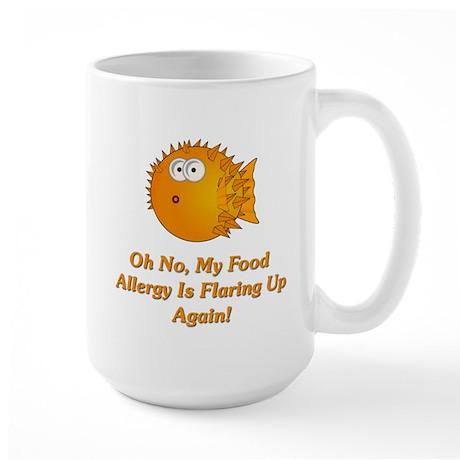 Oh No, My Food Allergy Large Mug