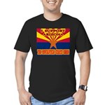 I support Arizona! The revolu Men's Fitted T-Shirt