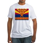 I support Arizona! The revolu Fitted T-Shirt
