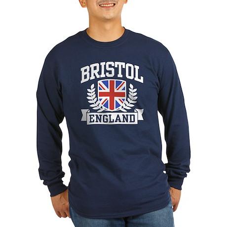 Bristol England Long Sleeve Dark T-Shirt
