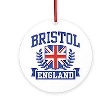 Bristol England Ornament (Round)