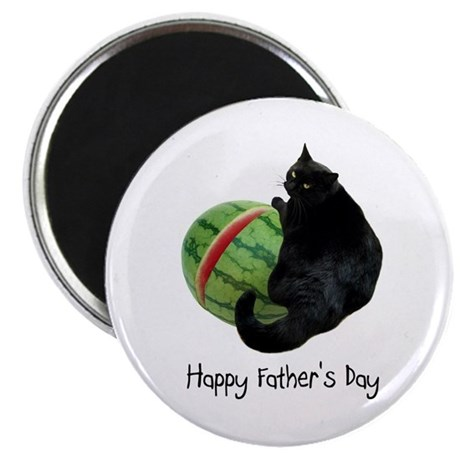 Cat Watermelon Father's Day Magnet