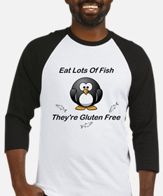 Eat Lots Of Fish Baseball Jersey