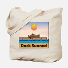 Dock Sunned Dachsund Tote Bag