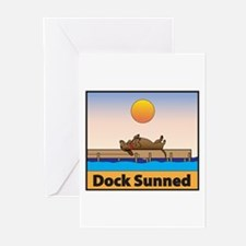 Dock Sunned Dachsund Greeting Cards (Pk of 10)