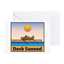 Dock Sunned Dachsund Greeting Card