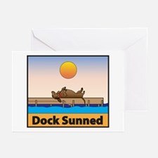 Dock Sunned Dachsund Greeting Cards (Pk of 20)