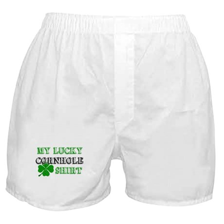 My Lucky Cornhole Shirt Boxer Shorts