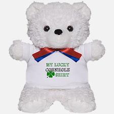 My Lucky Cornhole Shirt Teddy Bear