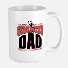Gymnastics Dad Level 4 Large Mug