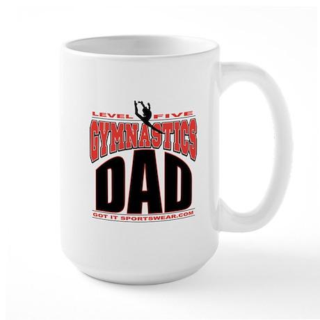 Gymnastics Dad Level 5 Large Mug