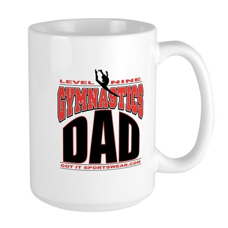 Gymnastics Dad Level 9 Large Mug