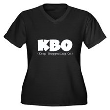 KBO - Keep Buggering On Women's Plus Size V-Neck D