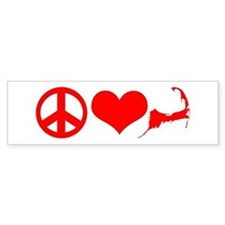 Peace Love Cape Cod Bumper Sticker