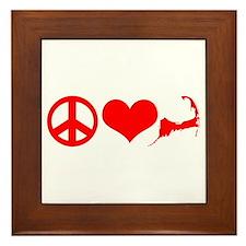 Peace Love Cape Cod Framed Tile