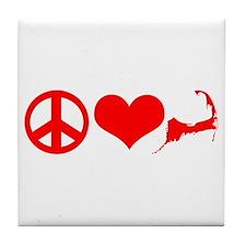 Peace Love Cape Cod Tile Coaster
