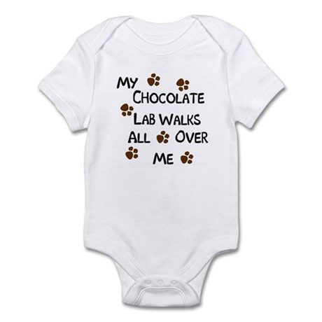 Walking Chocolate Lab Infant Creeper