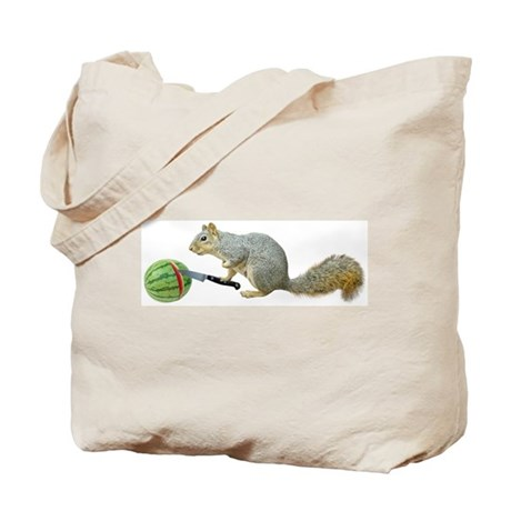 Squirrel Watermelon Tote Bag