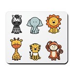 jungle animals Mousepad