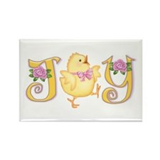 Joy: Chick Rectangle Magnet