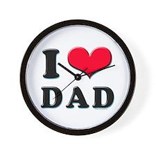 I Love Dad Wall Clock