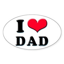 I Love Dad Decal