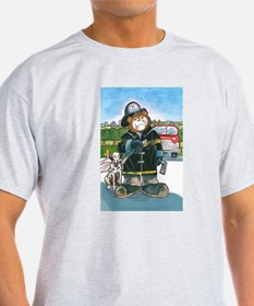 Firefighter, Male - Ash Grey T-Shirt