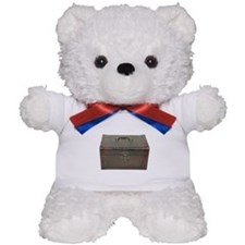 Fancy leather box Teddy Bear