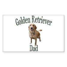 Golden Retriever Dad Decal
