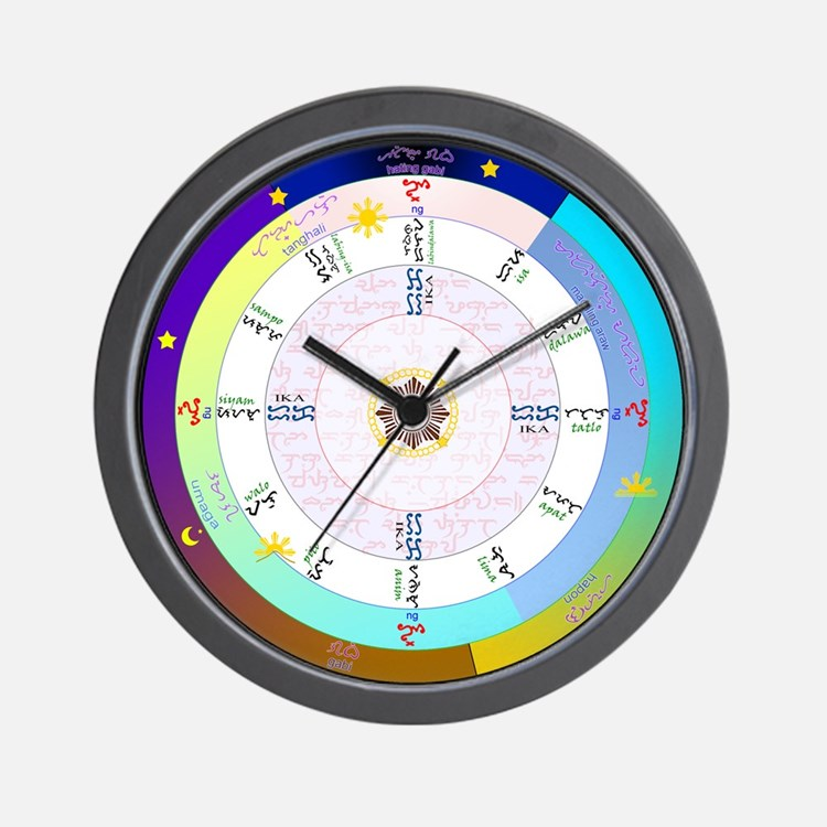 True Filipino Time Wall Clock