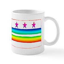 D.C. Watercolor Rainbow Flag Mug