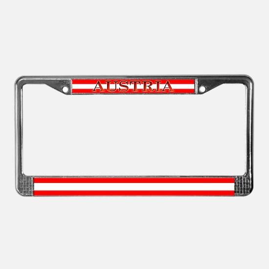 Austria Austrian Blank Flag License Plate Frame