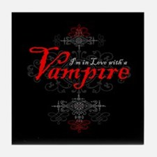 I'm in Love with a Vampire Tile Coaster