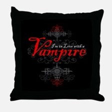 I'm in Love with a Vampire Throw Pillow