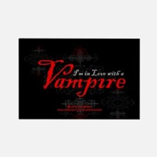 I'm in Love with a Vampire Rectangle Magnet
