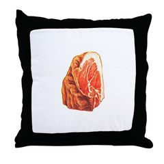 Corner Pork Cut Throw Pillow