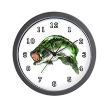 Largemouth Bass Wall Clock 10 inch