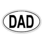 DAD Oval Sticker (Oval 10 pk)