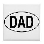 DAD Oval Tile Coaster