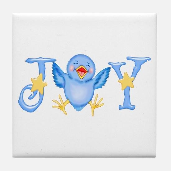 Joy: Bluebird Tile Coaster