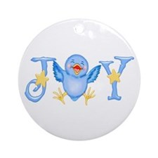 Joy: Bluebird Ornament (Round)
