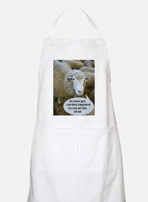 Carded, eh? Apron