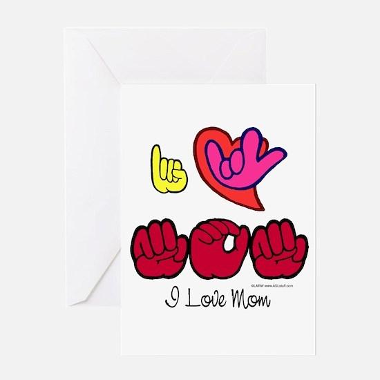 I-L-Y Mom Greeting Card