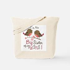 Big Sister of twins - Mod Bird Tote Bag