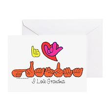I-L-Y Grandma Greeting Card